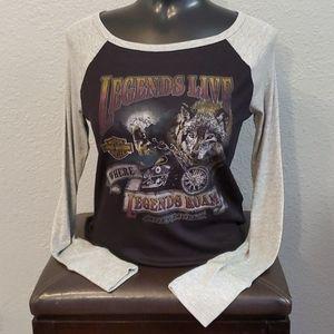 Harley- Davidson Raglan Top